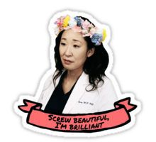 Screw Beautiful, I'm Brilliant Sticker