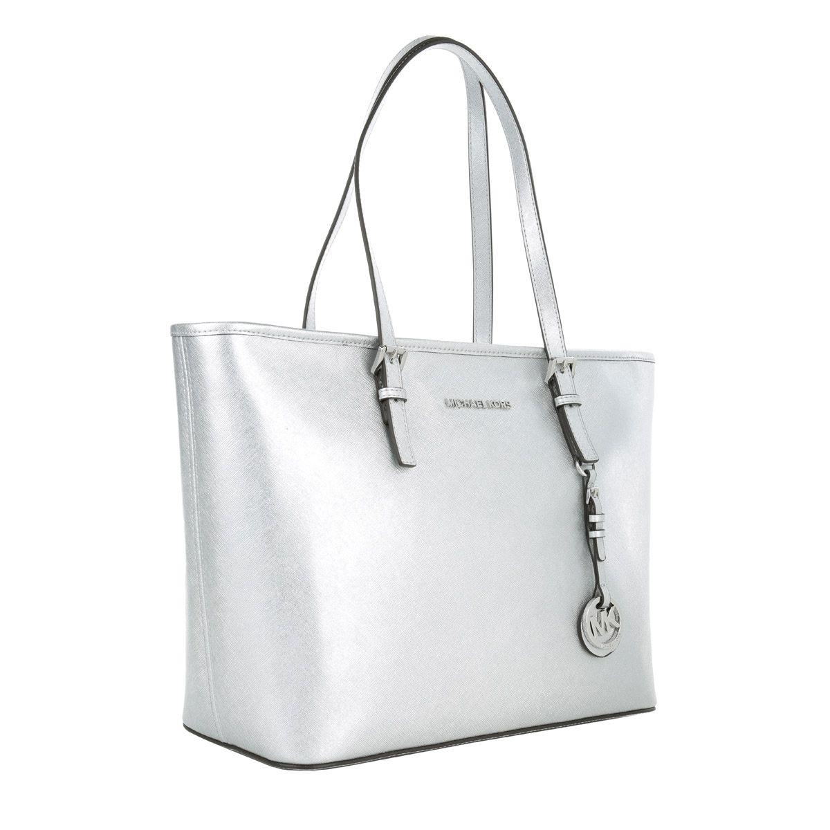 673318ab1f8dc MICHAEL Michael Kors Jet Set Travel TZ Tote Silver Shopper Designer Taschen  bei Fashionette