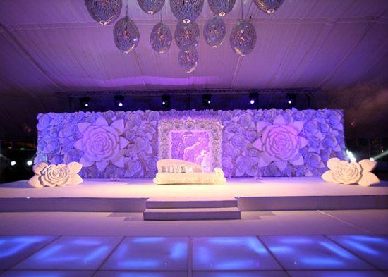 A Purple And White Theme Engagement At The Atlantis Hotel Dubai Weddingsutra Blog Wedding Decorations Wedding Stage Dream Wedding