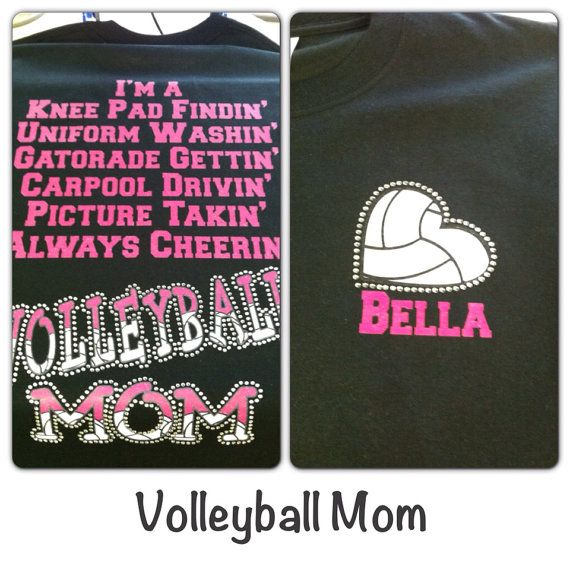 bb8769221374 VolleyBall Mom Bling T-Shirt small - XL | All things Volleyball ...