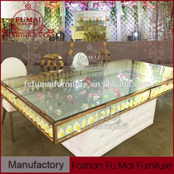 Fancy Crystal Wedding Dubai Dining Tables And Chairs For Sale