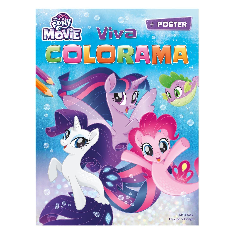Kleur Je Favoriete Eenhoorns Met Dit My Little Pony Kleurboek Dit Boek Bevat 1 Poster En 24 Kleurplaten Met Verschillende Eenh My Little Pony Kleurboek Poster