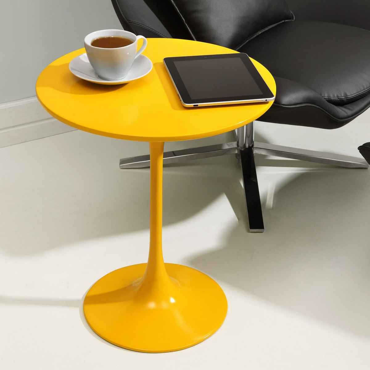 - Photo Of Yellow Accent Table With Mid Century Modern Yellow Side