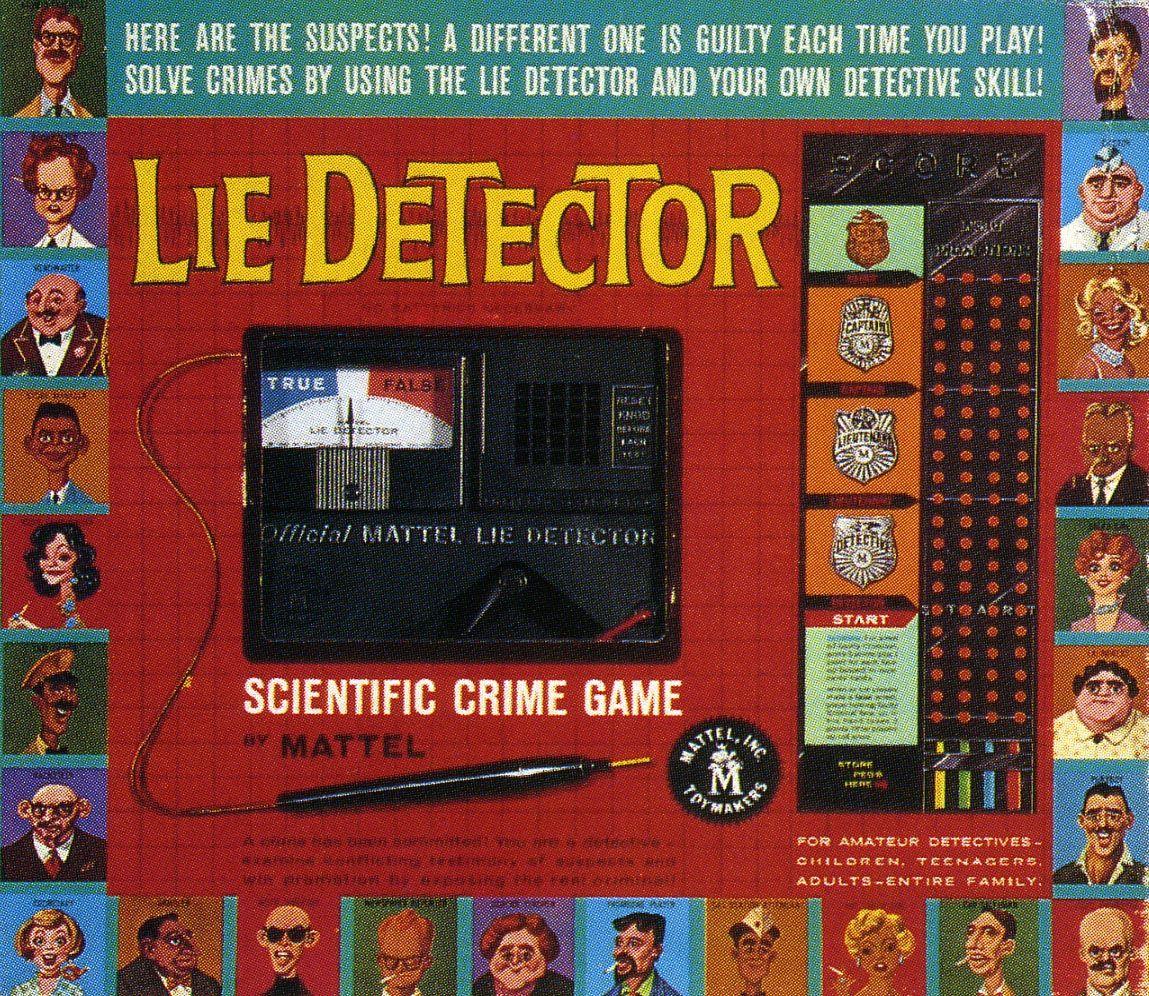 Mattels Lie Detector Scientific Crime Game Vintage Toys Games