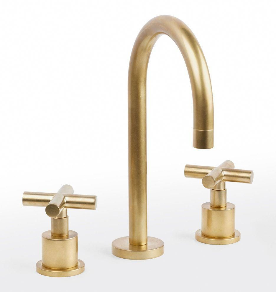 Waterhouse Faucet Aged Brass Bathroomfaucets Bathroom Faucets Widespread Bathroom Faucet Brass Bathroom Faucets