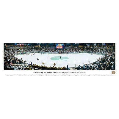 BlakewayPanoramas NCAA Hockey Photographic Print NCAA Team: University of Notre Dame