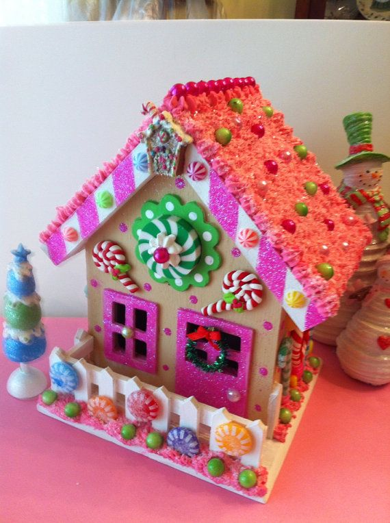 Candy Land House On Etsy 44 00 Candy Land Christmas Christmas Gingerbread Candyland