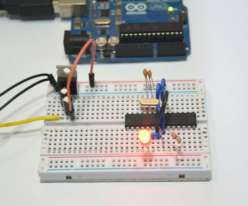 How to Build an Arduino Uno on a BreadBoard | Arduino, Electronics ...