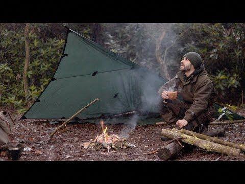 premium selection 90f46 e9d44 SOLO WINTER CAMP - Shelter, Long Fire, Axe, Bushcraft ...