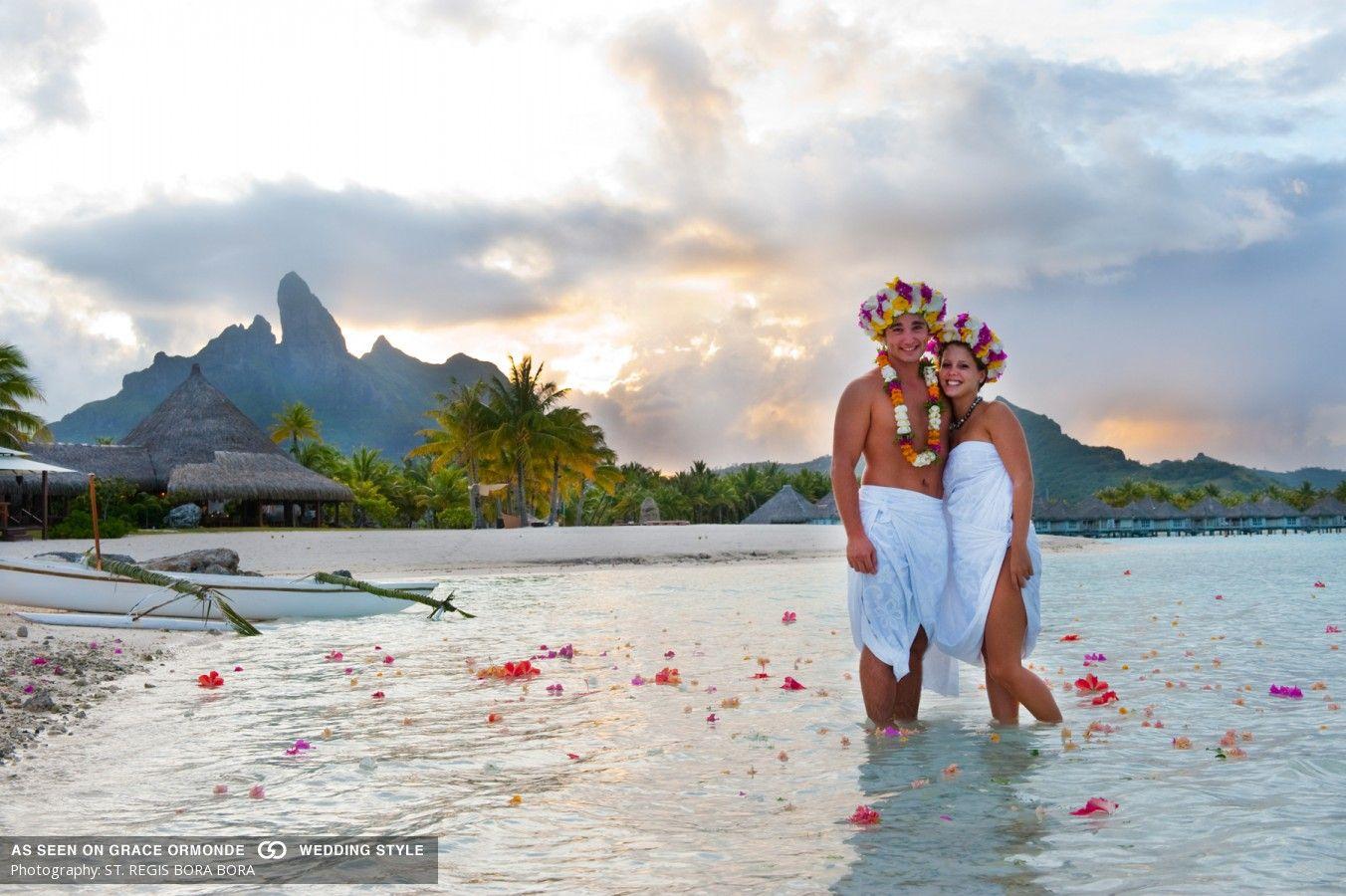 Wedding Ceremony On The Beach At St Regis Bora Resort