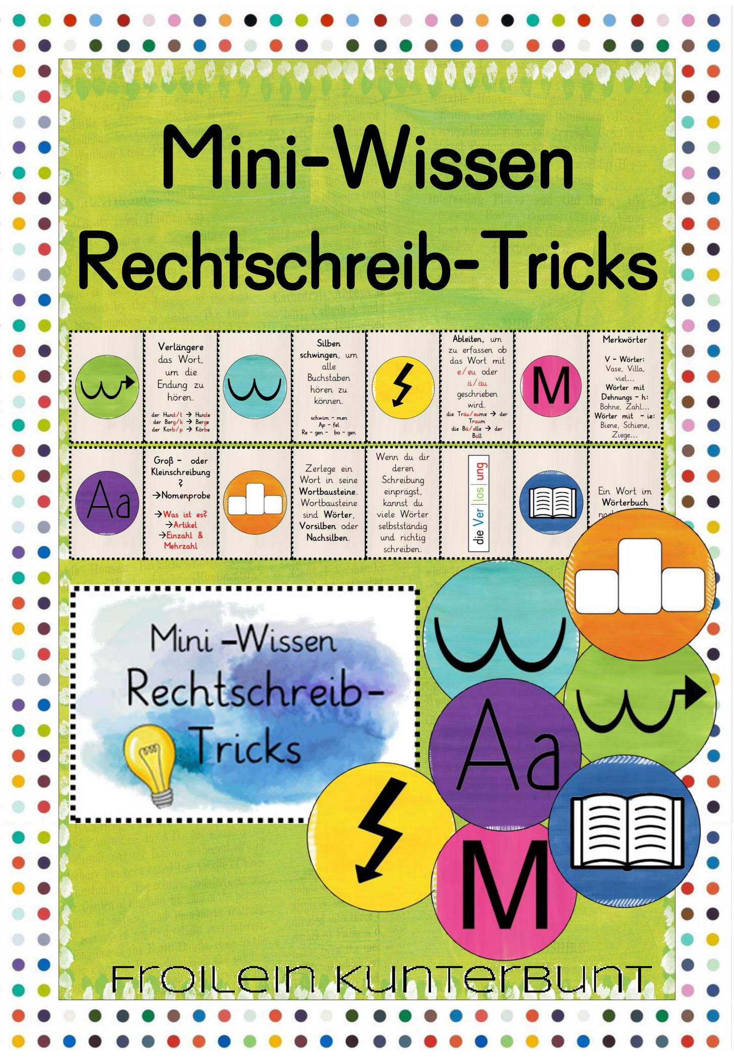 Mini Wissen Rechtschreib Tricks Unterrichtsmaterial In Den Fachern Daz Daf Deutsch Unterrichtsmaterial Unterrichtsplanung Deutsch Unterricht