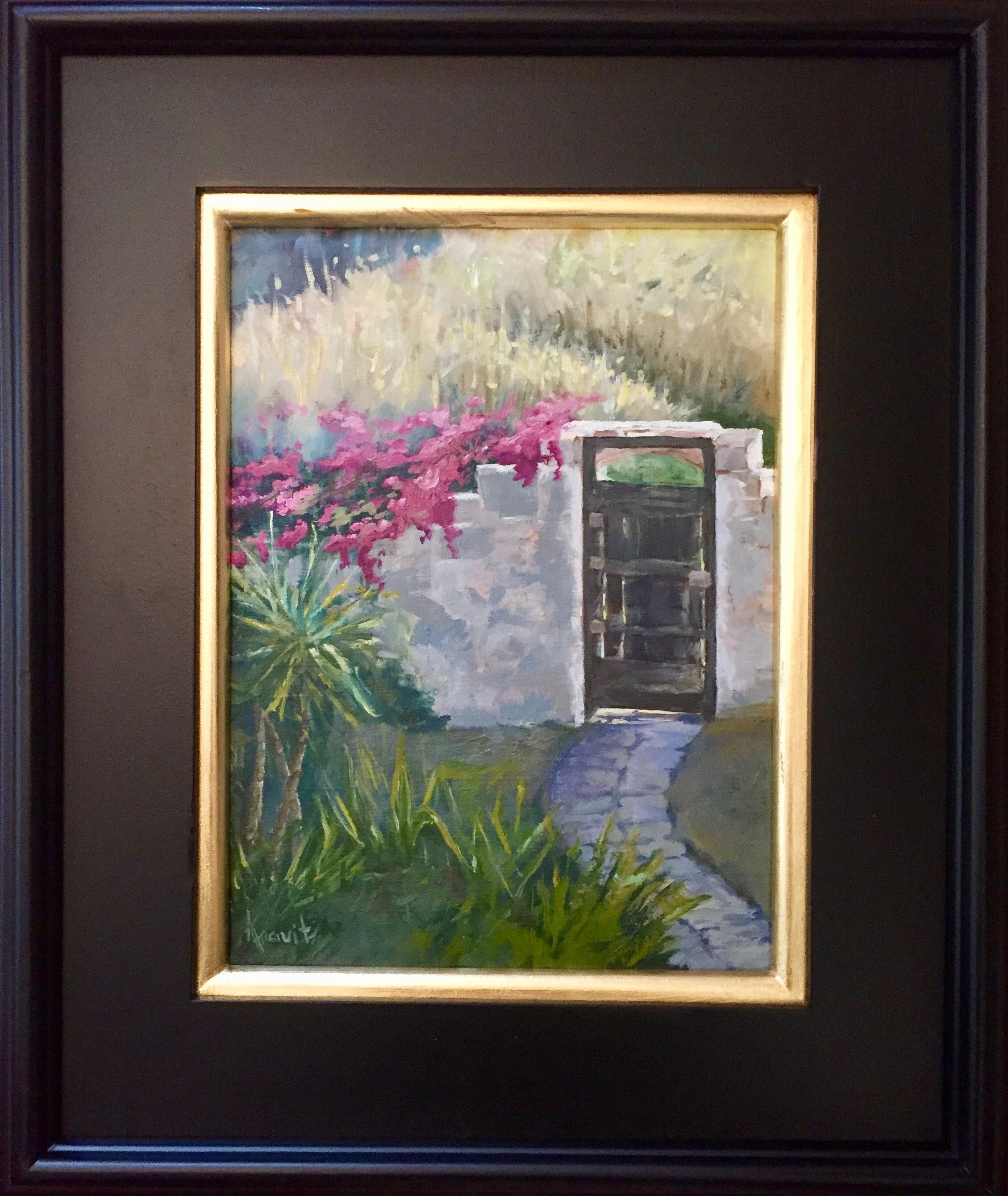 Italian Original Landscape Art Oil Painting Italy Old Wall And Door With Bougainvillea Art Small Wall Art 9 X12 Sicily Plein Air Art With Images Small Wall Art Painting Landscape Art