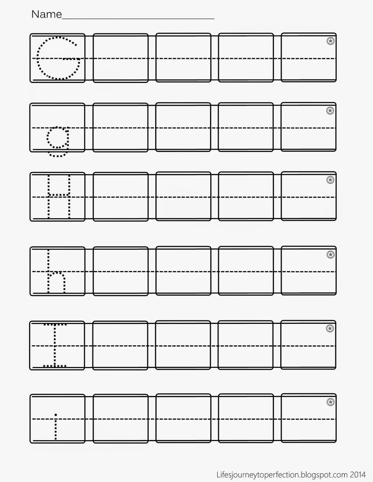 Preschool Practice Abc Writing Worksheet Printables