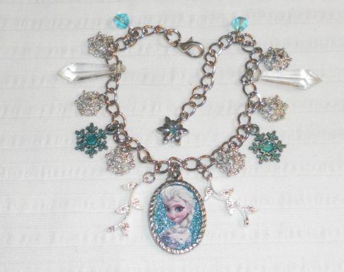 Disney Apos S Frozen Charm Bracelet Elsa Silver Aqua Snowflake Stocking Stuffer Snow