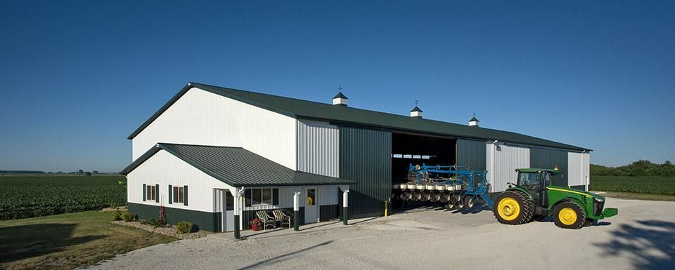 Farm Building Profile Use Machine Shed For Cold Storage