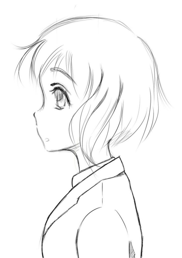 side profile how to draw girls anime hair and hair steps