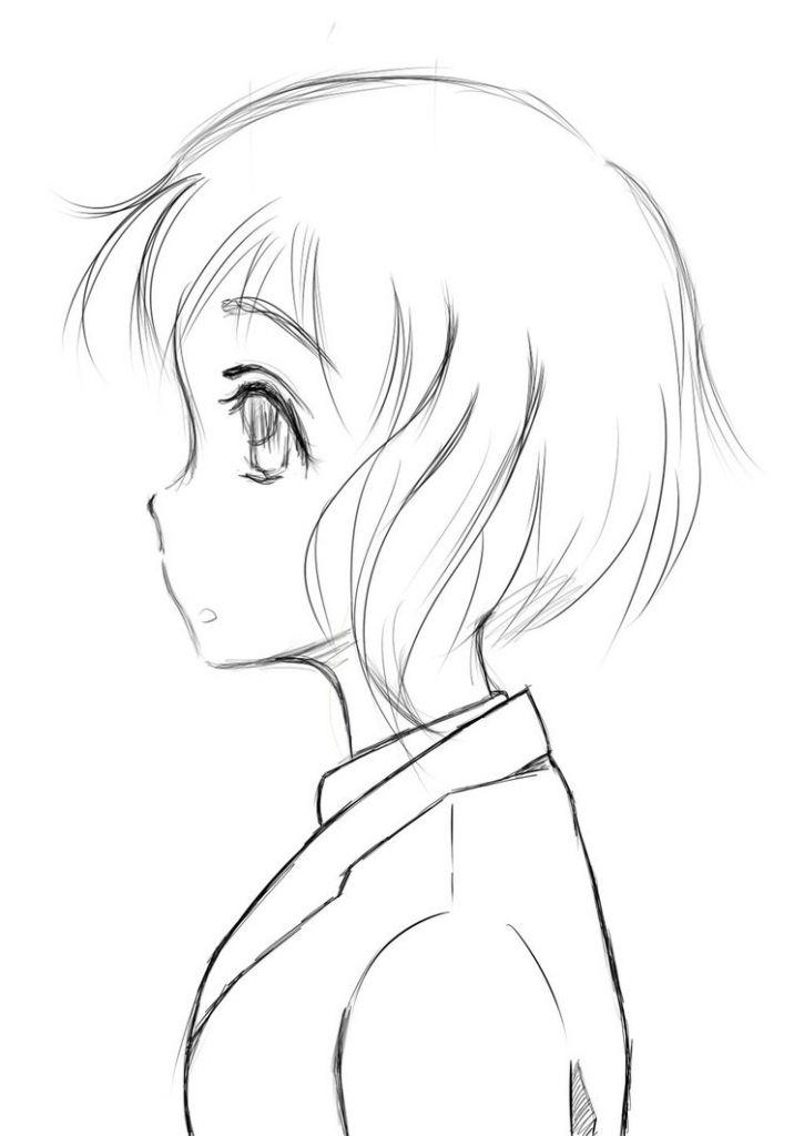 side profile draw girls