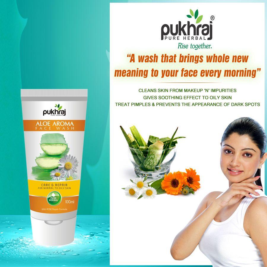Pukhraj Aloe Aroma Face Wash contains various natural
