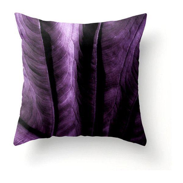 Elephant Ear Leaf Decorative Pillow Plum Wall Decor Purple Home