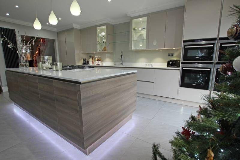 Floating Kitchen Island Design - Modern wood kitchen island ...
