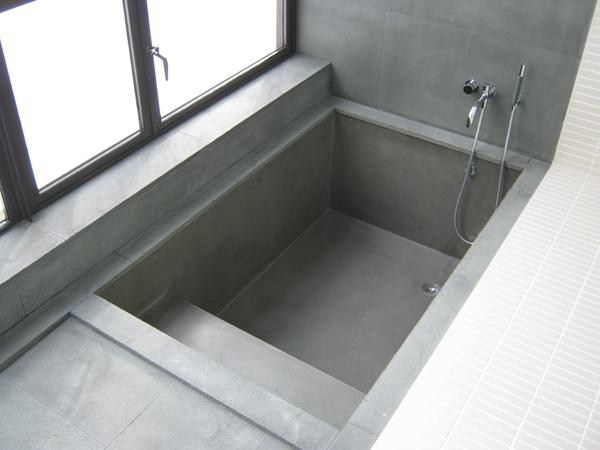 Sunken Tub With Steps Not So Much The Color And Materials But That It S Got Good Access Tub Remodel Bathroom Inspiration Bathroom Design