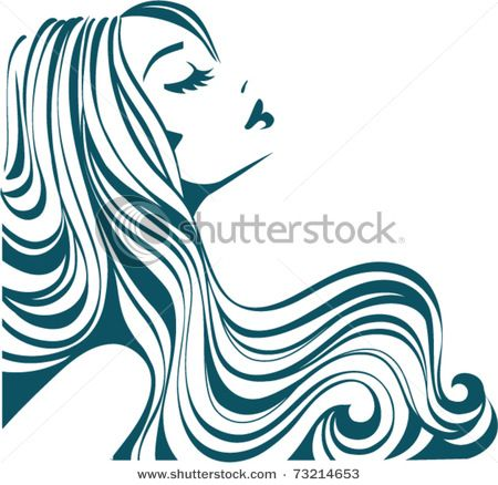 picture of a beautiful woman with long hair flowing like a river in rh pinterest ca cosmetologist clipart cosmetology clipart