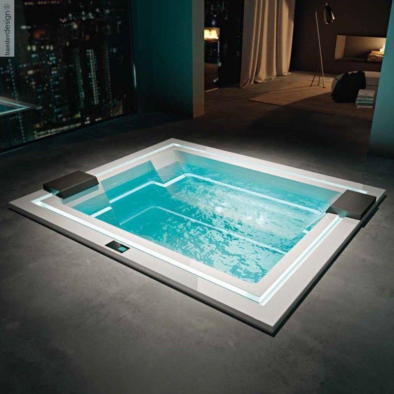 Badepool Zen 280x235 Mit Ghost System Und Beleuchtung Future