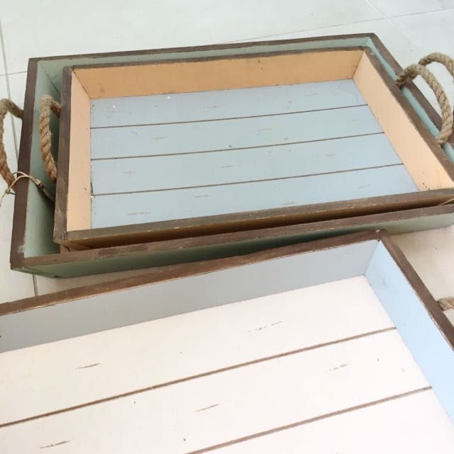 Wooden Trays To Decorate Best Vintage Wooden Tray Brand New With Tag On Carousell  Wants For Design Inspiration