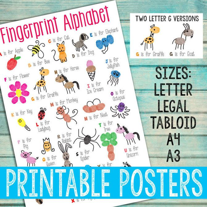 Fingerprint Alphabet Posters (PDF Download)