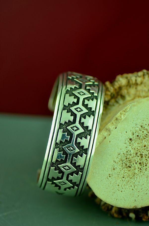 Navajo Mountain And Medicine Eye Bracelet By Rosita Singer