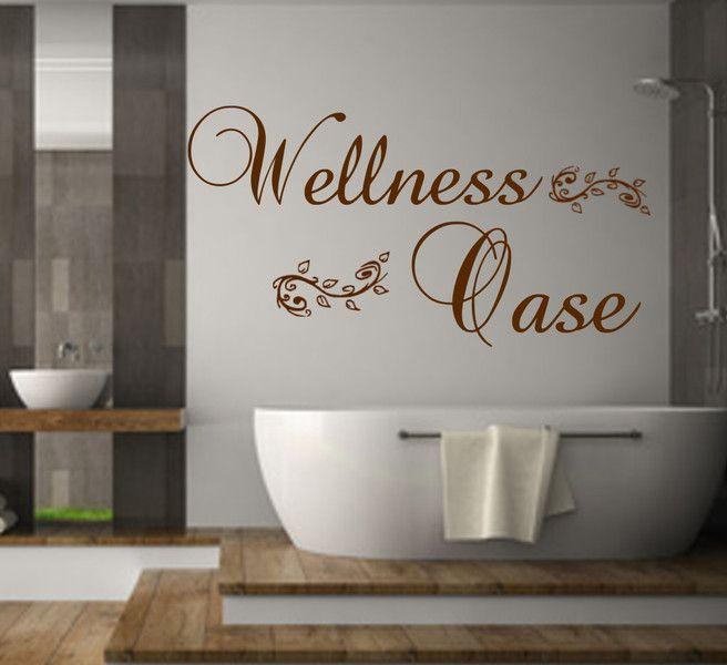 Wandtattoo Badezimmer Wellness Oase Wanddekoration - Wandtattoos Fürs Badezimmer