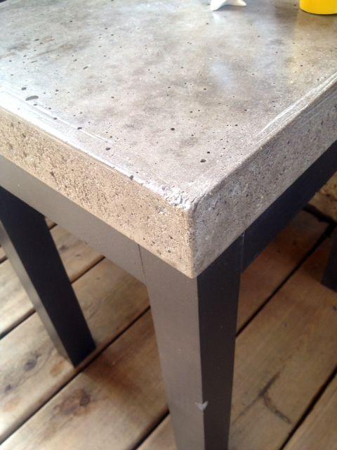 Top Sealed With Buddy Rhodes Satin Sealer Concrete Diy Concrete
