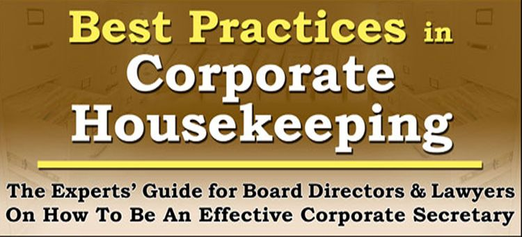 Best Practices in Corporate Housekeeping - Flyer and Course - flyer outline