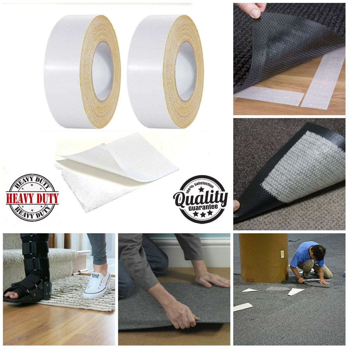 Details about 50MM X 3M Carpet Rug DIY Double Sided Tape