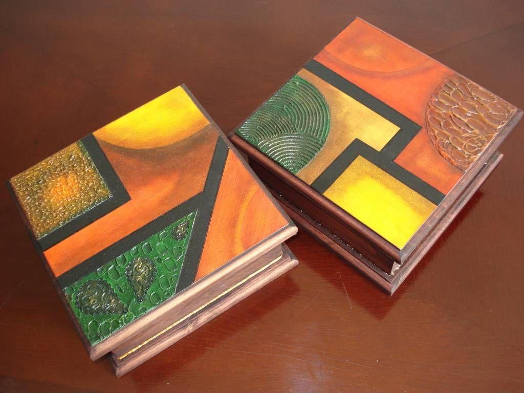 Caja de te pintadas pesquisa google cajas de maderas - Caja madera manualidades ...