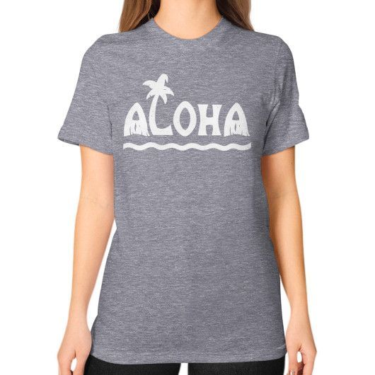 ALOHA Unisex T-Shirt (on woman)