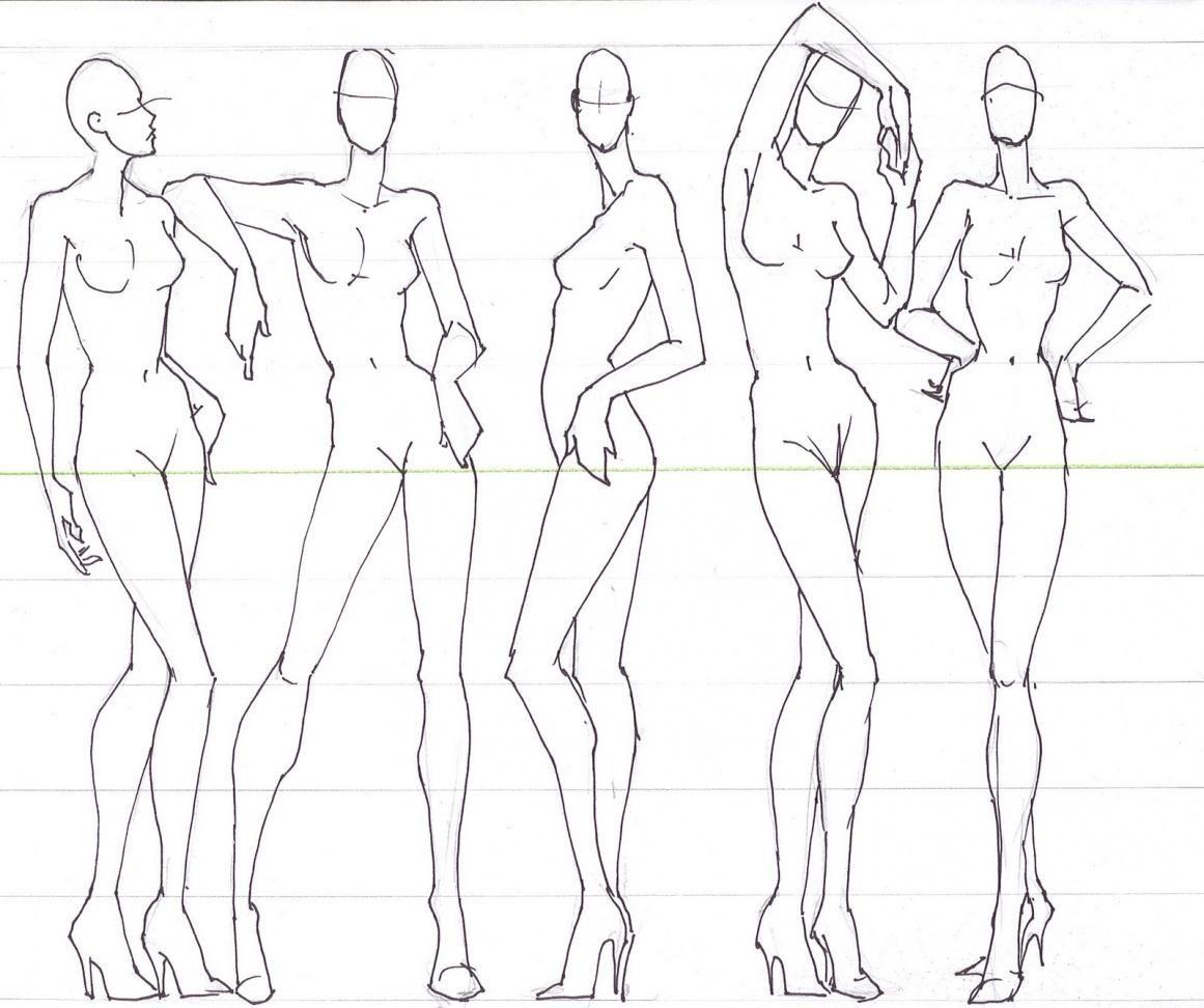 croquis femininos | Ilustraciones de la web | Pinterest | Stifte ...
