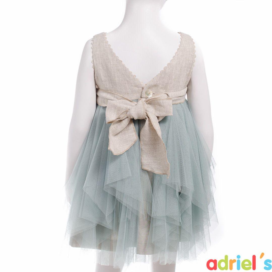Vestido de ceremonia para niña de Teté&Martina.