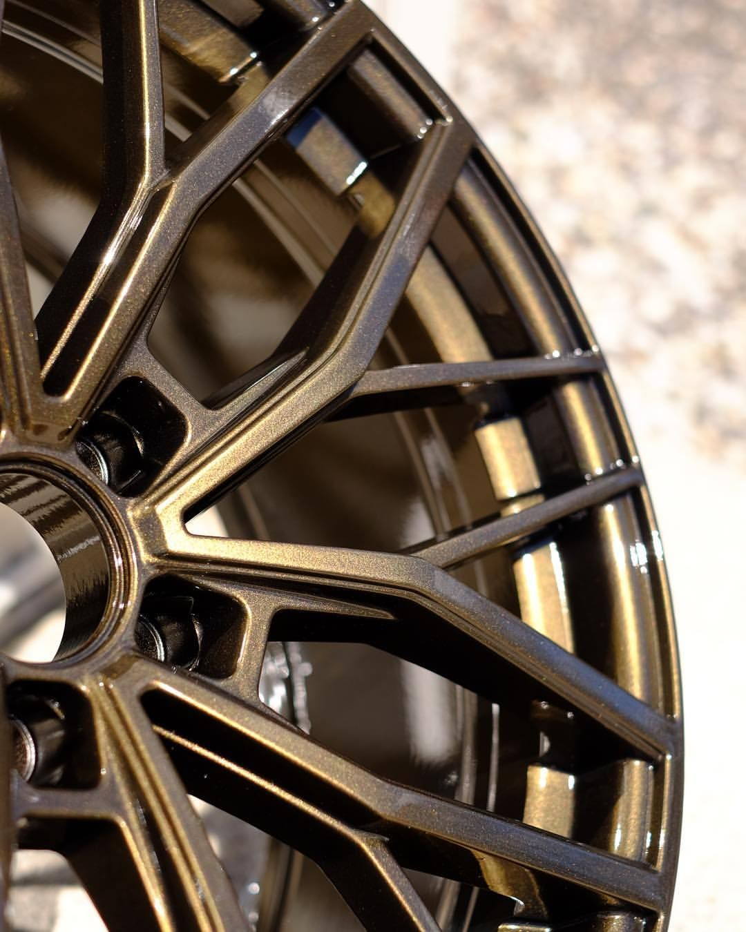20 ruffino wheels curb rash repaired and refinished in a