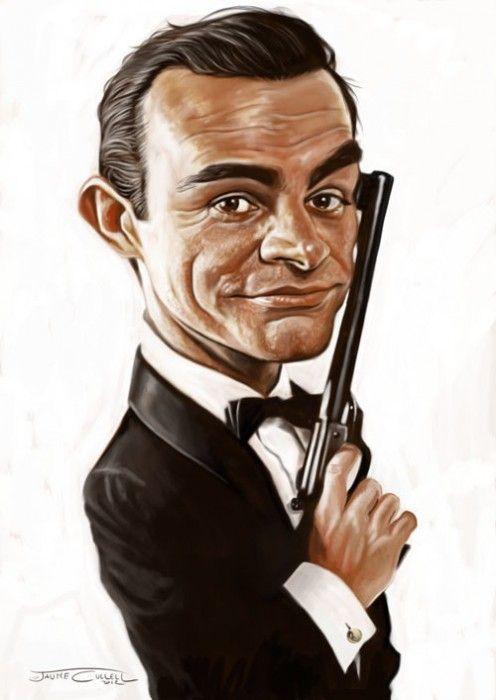 James Bond Sean Connery Celebrity Caricatures