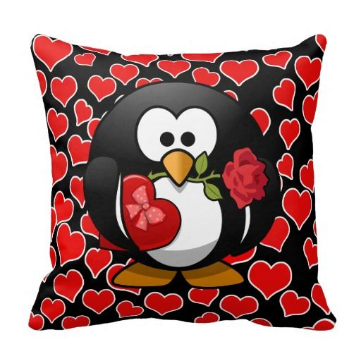 Love Penguin With Valentine Gifts Pillows