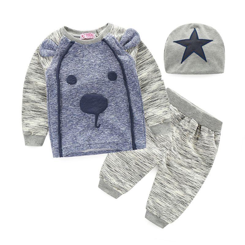 627fef52b Baby clothes 2015 Brand summer kids clothes sets t-shirt+pants+cap suit  clothing set Star Printed Clothes newborn sport suits