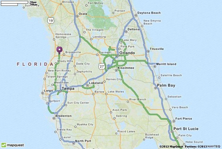 Vero Beach Florida Map.Map Of Florida Mapquest Lendmark Pinterest Road Conditions