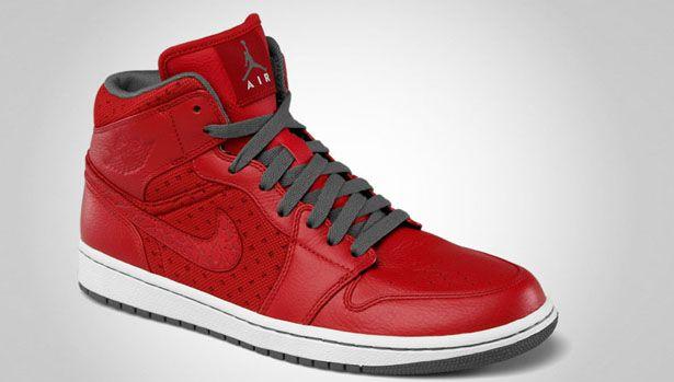 105.00 Air Jordan 1 Phat Mid - Varsity Red Cool Grey-White  95e0df690