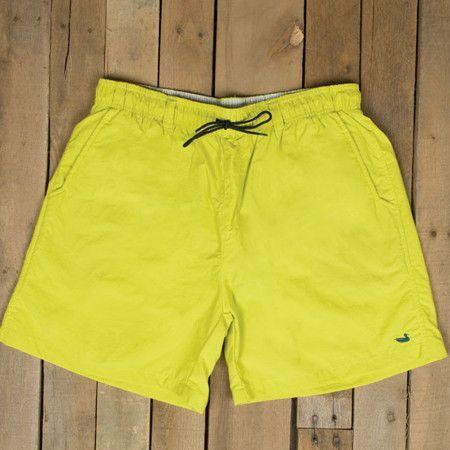 Southern Marsh Dockside Swim Trunk in Neon Yellow