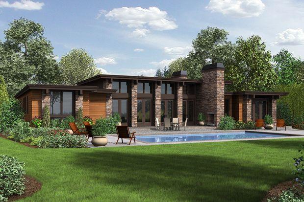 Modern Style House Plan 3 Beds 2 5 Baths 2557 Sq Ft Plan 48 476