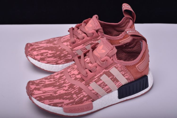 "99c4415a40feb Women s adidas NMD R1 Primeknit ""Pink Black"" Raw Pink Trace Pink-Legend Ink  BY9648"