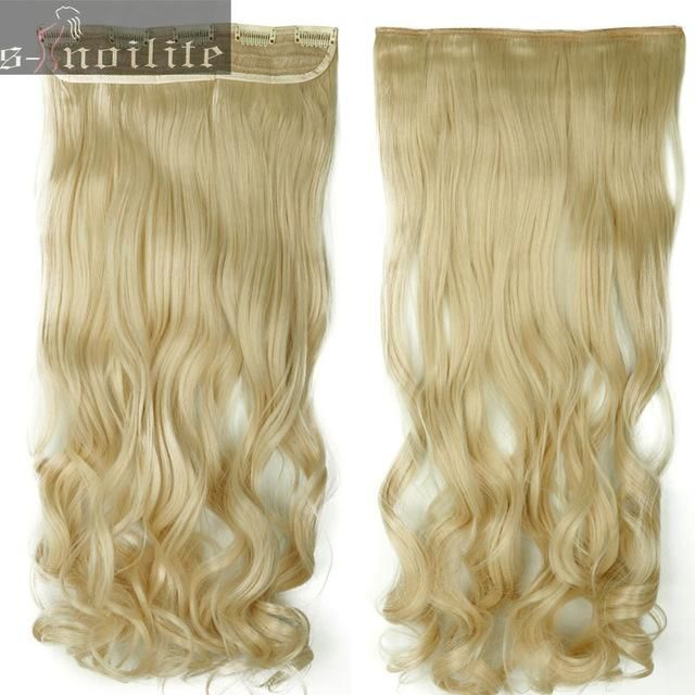 S Noilite 18 28 Long Synthetic Hair Extensions 1 Piece Clip In