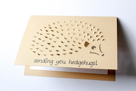 Hedgehog Card Sending Hedgehugs Card Hedgehog Birthday Card