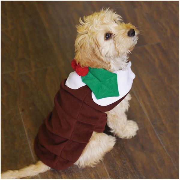 Christmas Pudding Dress Up Costume Christmas Dog Outfits Dog
